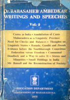 Dr. Babasaheb Ambedkar Writing and Speeches Vol. 1