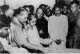 Dr. Ambedkar lightening the candle during 'Dhamma Deeksha' ceremony at Nagpur 14 October 1956