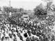 The ocean of people waving the mortal remains of Dr. Babasaheb Ambedkar towards the 'Chaitya Bhoomi',  Mumbai,  which had never been seen in the history (6 December 1956)